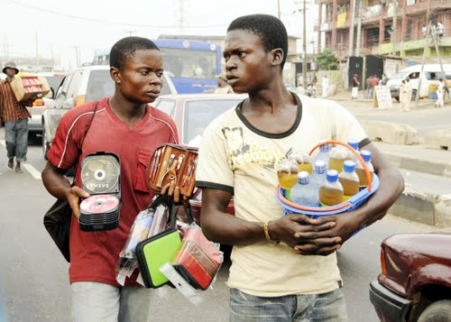 Hawkers in Lagos, Nigerian Monitor